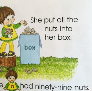 nuts in box